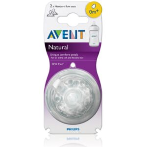 Avent Teat Natural newborn Flow - Pack Of 2 (0m+)-0