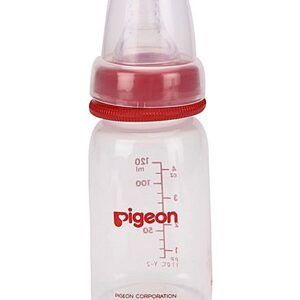 Pigeon plastic feeding bottle red 120ml-0