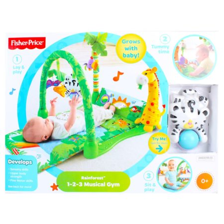 Fisher Price 3 In 1 Musical Play Gym Rain Forest Theme-0
