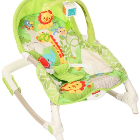 Fisher Price New Born To Toddler Portable Rocker With Free Diaper Bag - Green-0