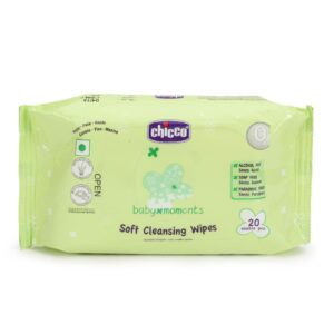 Chicco Baby Moments Soft Cleansing Wipes - 20 Wipes-0