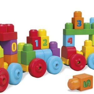 Mega Bloks First Builders 123 Learning Train 50 Pcs - Multicolor-0