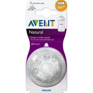 Avent Teat natural Fast flow - Pack of 2 (6m+)-0