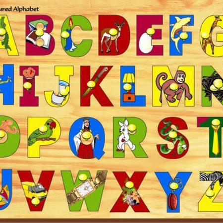 Kinder Creative Pictured Alphabet with Knob-0