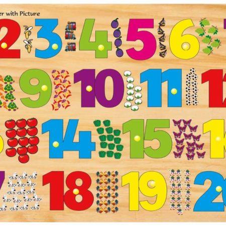 Kinder Creative 1-20 Number with Picture-0