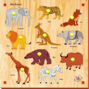 Kinder Creative 10 Wild Animals with Knobs - KCS06-0