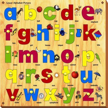 Kinder Creative Lower Alphabet with Knobs-0