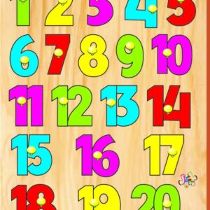 Kinder Creative Number Board with Knobs-0