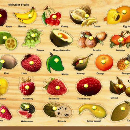 Kinder Creative Alphabet Fruits with Knob-0