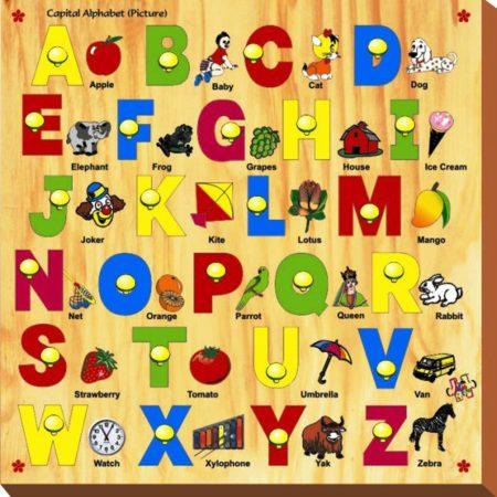 Kinder Creative Capital Alphabet with Knob-0