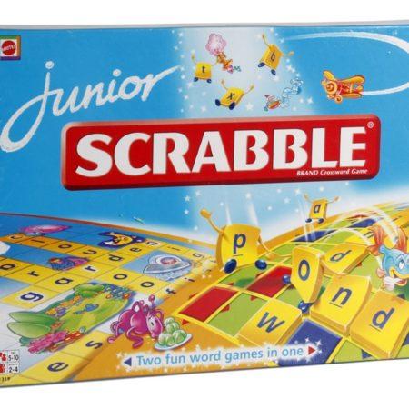 Mattel Junior Scrabble - Brand Crossword Game-0
