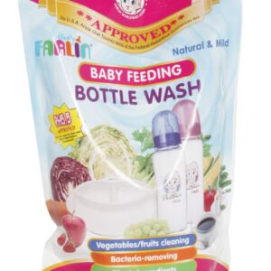 Farlin Anti-Bacterial Baby Liquid Cleanser for Fruits, Bottles, Accessories & Toys (700ml Refill pack)-0