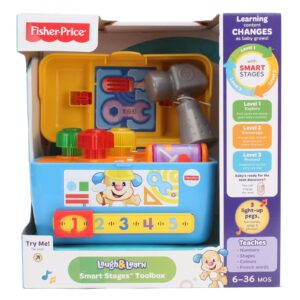 Fisher Price Laugh And Learn Smart Stages Toolbox Toy - Multicolor-0