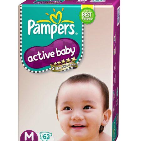 Pampers active baby medium 62-0
