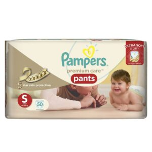 Pampers premium care pants Small 50 count-0