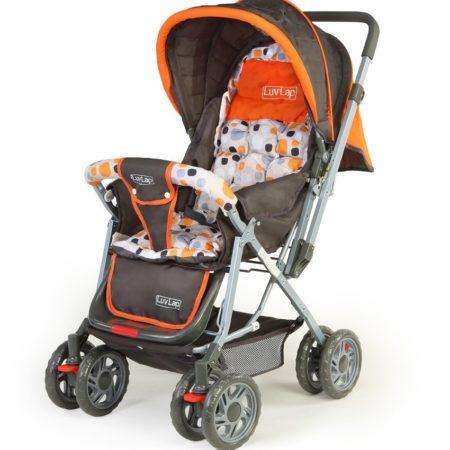 LuvLap Sunshine Baby Stroller (18107) - Orange-0