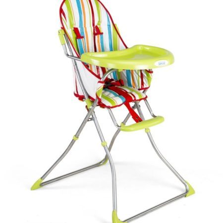 LuvLap Sunshine Baby Highchair With Transparent Tray (18113) - Green-0