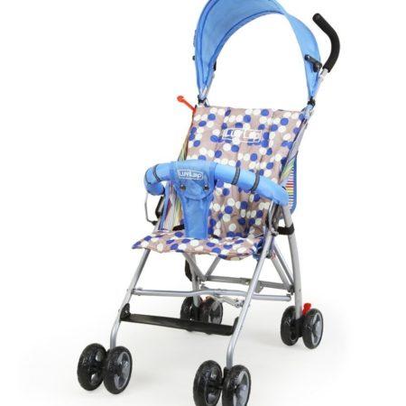 LuvLap Sunshine Baby Buggy - Blue-0