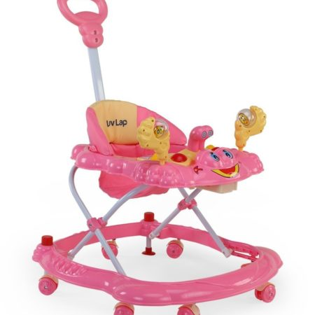 LuvLap Sunshine Musical Baby Walker (18127) - Pink-0
