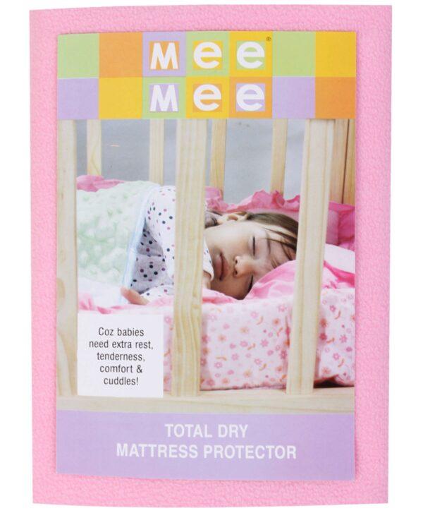 Mee Mee Total Dry Mattress Protector Pink - Medium-571