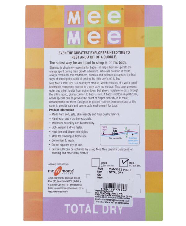 Mee Mee Total Dry Mattress Protector Pink - Medium-572