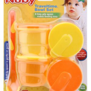 Nuby Micro Traveltime Bowl Set - Multicolor-0
