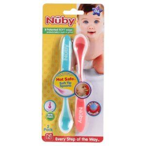 NUBY Hot Safe Soft Tip Spoon Set Of 2 - Mullticolor-0