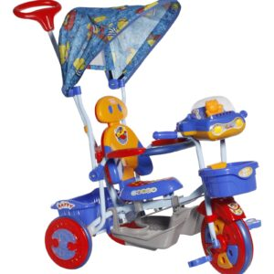 Mee Mee Lets Explore Tricycle with Canopy Blue - BT-860 A-0
