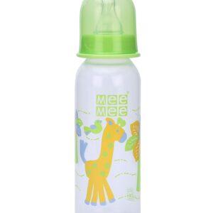 Mee Mee Green Feeding Bottle Giraffe Print - 250 ml-0