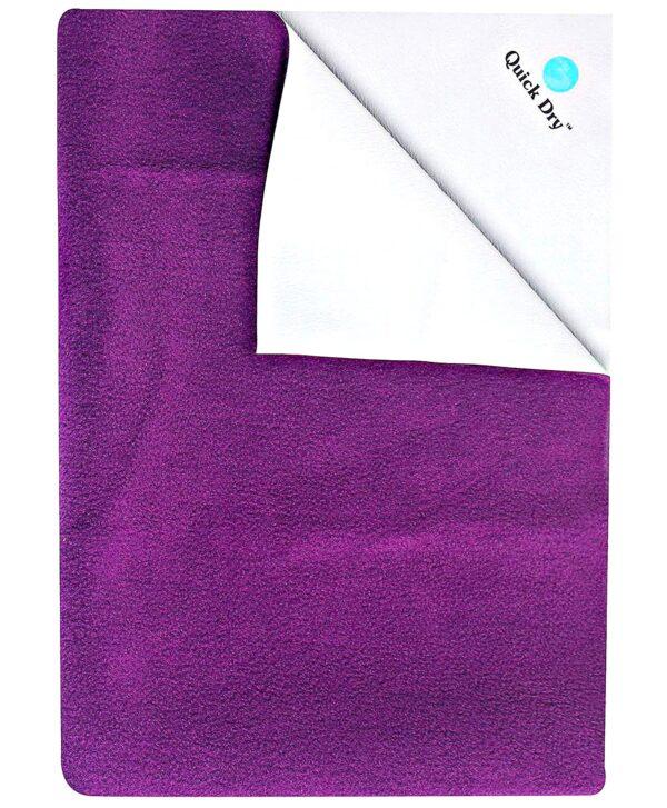 Quick Dry Plain Waterproof Bed Protector Sheet (S) - Plum-0