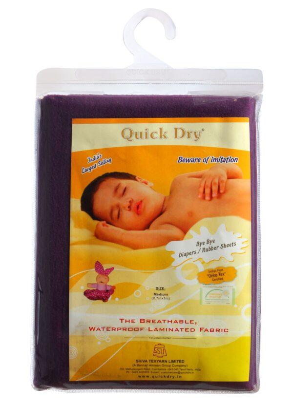 Quick Dry Plain Waterproof Bed Protector Sheet (S) - Plum-3272