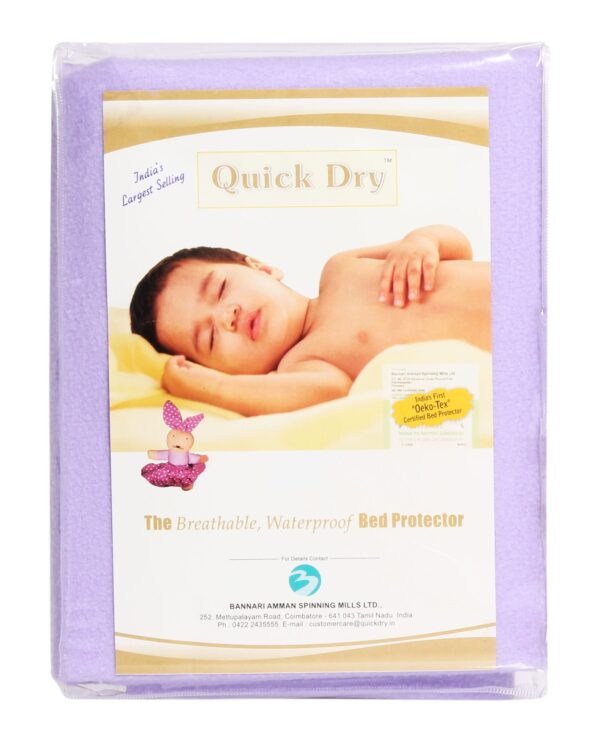 Quick Dry Plain Waterproof Bed Protector Sheet (S) - Lilac-3292