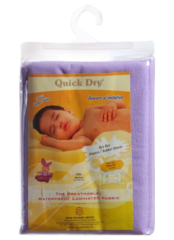 Quick Dry Plain Waterproof Bed Protector Sheet (S) - Lilac-3293