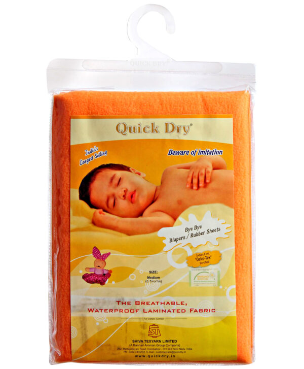 Quick Dry Plain Waterproof Bed Protector Sheet (S) - Peach-3285