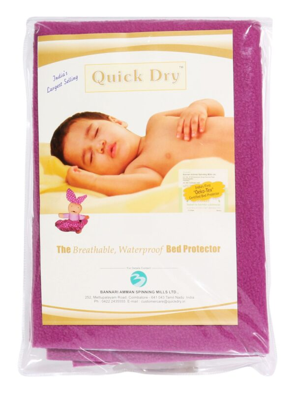 Quick Dry Plain Waterproof Bed Protector Sheet (S) - Orchid-3281