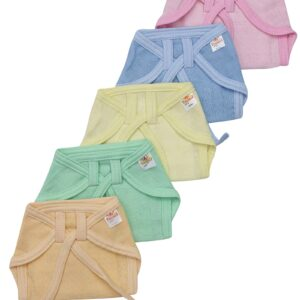 Tinycare Multicolor Pure Cotton Cloth Nappy - Set Of 5-0
