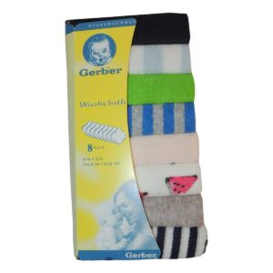 Gerber Face Napkin Cloth Set Of 8 - Color May Vary-0