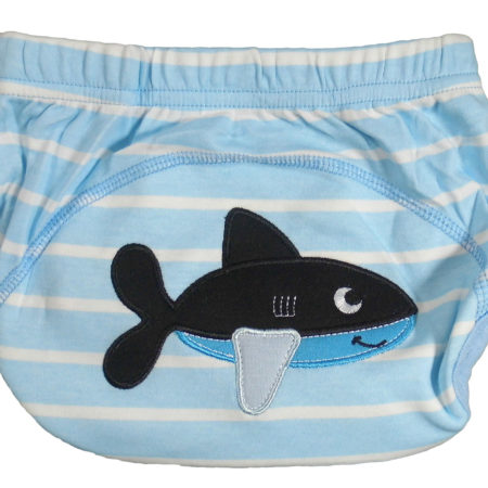 Moms Care Reusable Diaper Panty Shark Print - Blue-0