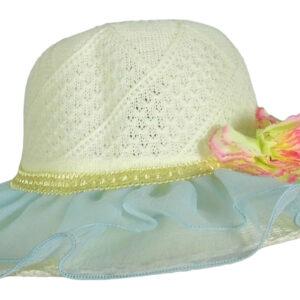 Babys World Girls Fancy Hat - Sky Blue-0