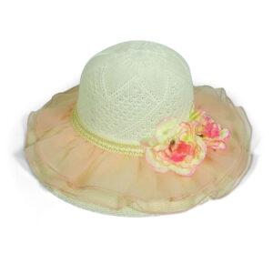 Babys World Girls Fancy Rounded Hat - Orange-0