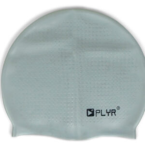 PLYR Dotted Texture Silicone Swimming Cap - Grey-0