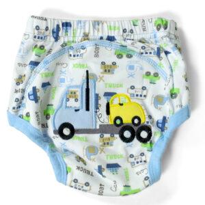 Moms Care Printed Reusable Diaper Panty - Blue-0