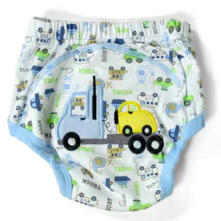 Moms Care Printed Reusable Diaper Panty - Blue-0