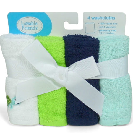 Luvable Friends Wash Clothes (Hanky) Set Of - 4-0