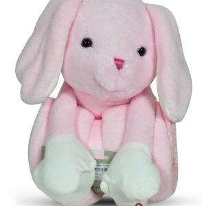 Luvena Fortuna Soft Blanket With Teddy Plush Animal Toy - Pink-0
