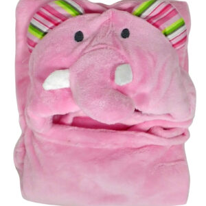 Carters Baby Hooded Mink Blanket Elephant Style - Pink-0