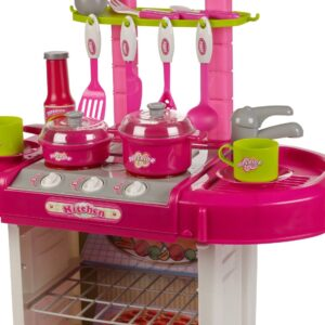 Battery Operated Kids Kitchen Sets With Light And Sound Carry Case -008-58-0