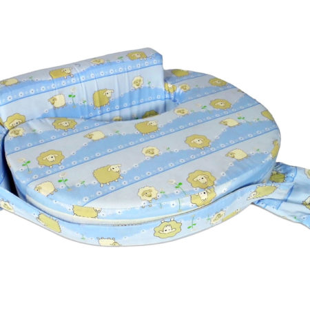 Babys World Baby Feeding Pillow - Blue-0