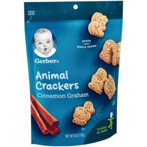 Gerber Graduates Animal Crackers Cinnamon Graham - 170 gm (Best Before 30 sep, 2020)-0
