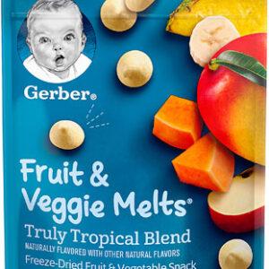 Gerber Graduates Fruit & Veggie Melts, Truly Tropical Blend - 28gm-0